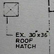 The roof hatch.